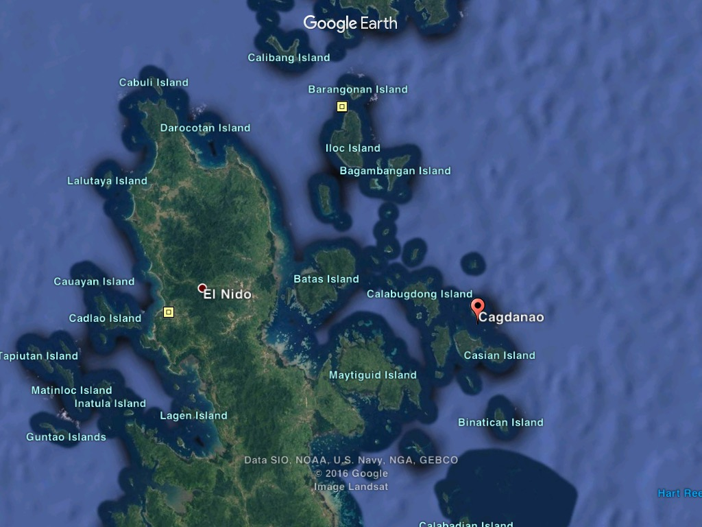 Cagdanao Island Map Location