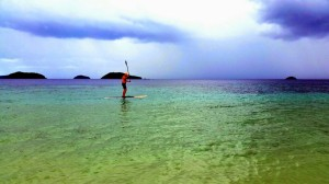 Paddling in Cagdanao Island