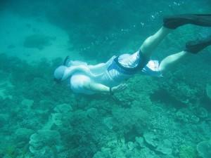 Dive underwater in Cagdanao