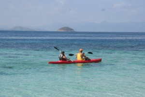 Kayaking in Cagdanao Island