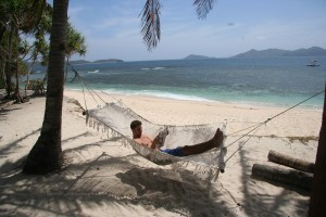 Relax in hammock in Cagdanao