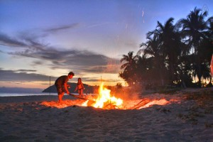 Bonfire in Cagdanao Island