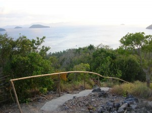 Hiking trail in Cagdanao